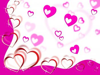 Hearts Background Shows Tenderness Affection And Dear
