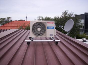 Heat Pump on a Roof
