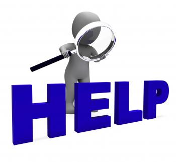 Help Character Shows Helpline Helpdesk Assist Or Support