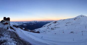High Angle Photo of Snow Mountain