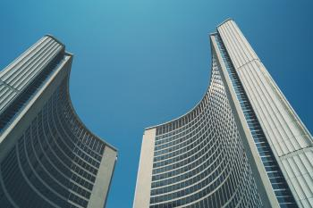 High Rise Buildings on Low Angle Photography