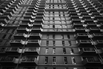 Highrise with balconies