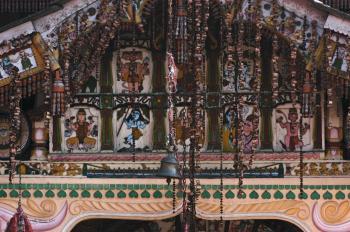 Hindu God Illustration Near Bell