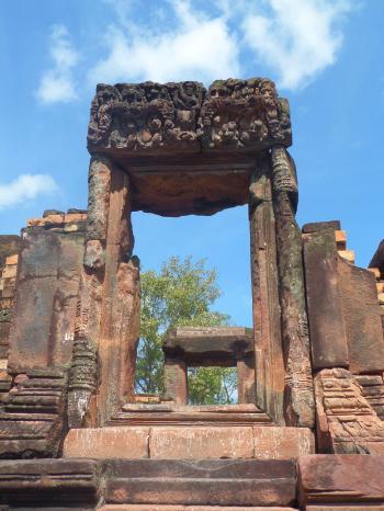 Hindu temple ruins