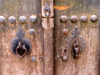 Historic door, kashan,iran