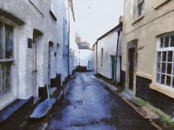 Historic Village Painting