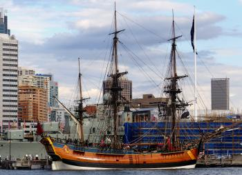 HM Bark Endeavour Replica. Sydney.