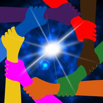 Holding Hands Means Globally Globalize And Globe
