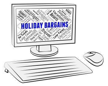 Holiday Bargains Indicates Discounts Break And Vacationing