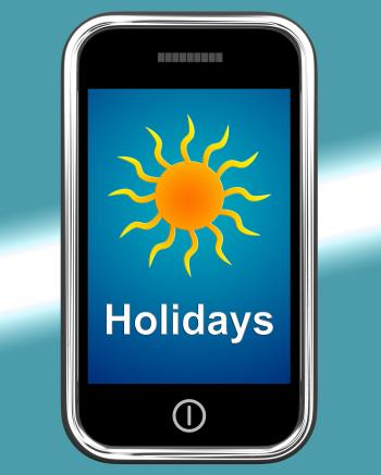 Holidays On Phone Means Vacation Leave Or Break