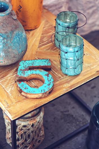 Home decor / wooden number 5