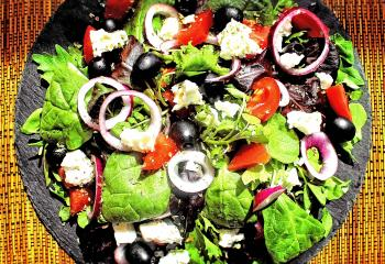 Home Made Natural Looking Greek Salad