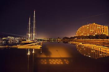 Hong Kong Gold Coast at night