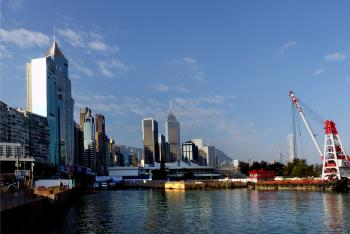 Hong Kong waterfront..