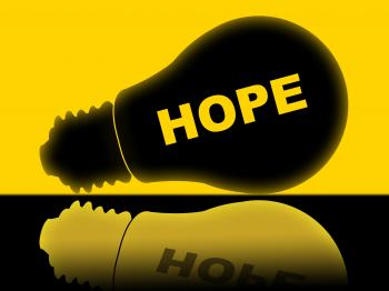 Hope Lightbulb Means Wants Wish And Wanting