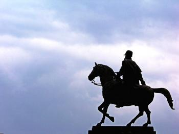 Horseman statue