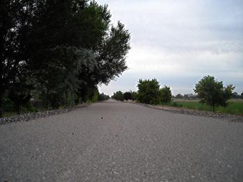 Hot asphalt