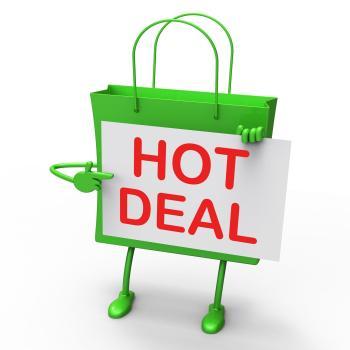 Hot Deal Bag Represents Bargains and Discounts