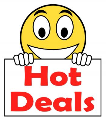 Hot Deal On Sign Shows Bargains Sale And Save
