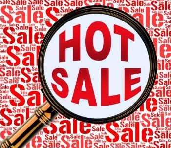 Hot Sale Means Best Deals And Bargains