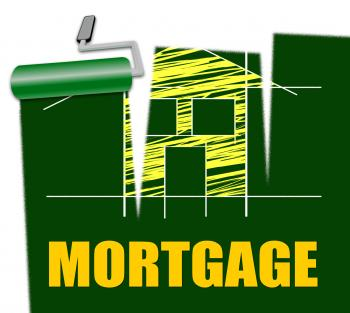 House Mortgage Represents Housing Loan And Credit