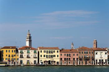 Houses in the city of Venice