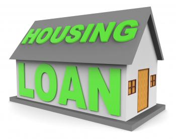 Housing Loan Means Real Estate And Apartment 3d Rendering