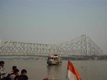 Howrah bridge from Ganga