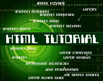Html Tutorial Represents Hypertext Markup Language And Code