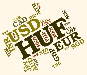 Huf Currency Indicates Worldwide Trading And Broker