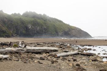 Hug Point Beach, Oregon, Foggy Day
