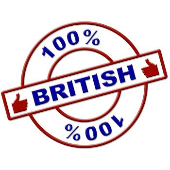 Hundred Percent British Shows Great Britain And Absolute