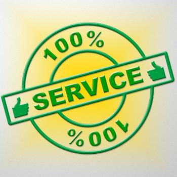 Hundred Percent Service Shows Help Desk And Advice