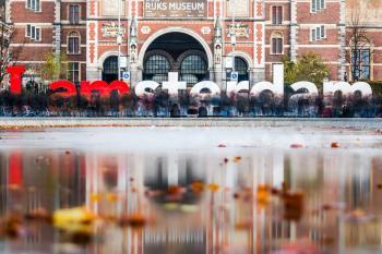 I Amsterdam Freestanding Letter in Front of Ruks Museum