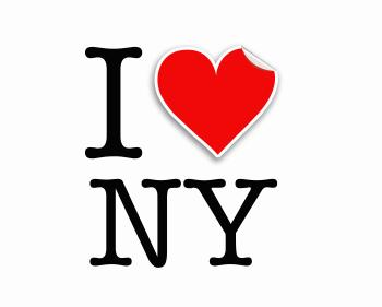I love NY letters design