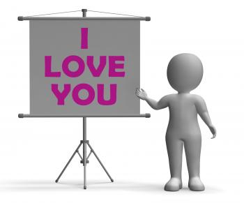 I Love You Board Means Romance And Dating