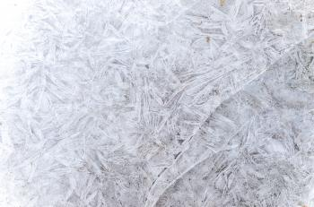 Ice abstract texture in winter