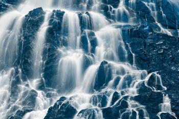 Ice Forest Waterfall