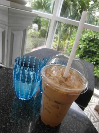 Iced Latte and Water