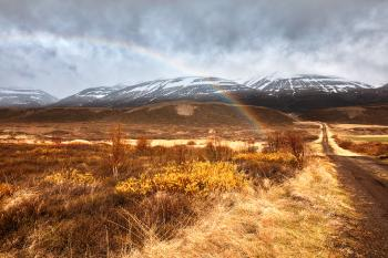 Iceland Mountain Rainbow
