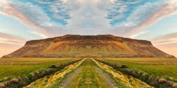 Iceland Sunset Symmetry Trail