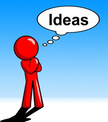 Ideas Character Represents Think About It And Innovations