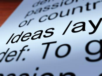 Ideas Definition Closeup Showing Creative Thoughts