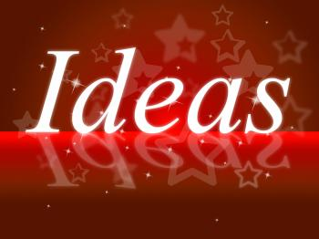 Ideas Word Shows Think About It And Contemplation