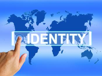 Identity Map Represents Internet or International Identification or Br