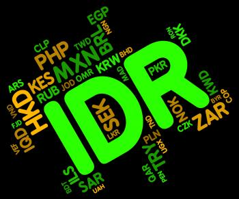Idr Currency Indicates Exchange Rate And Broker
