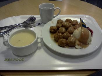 IKEA meatball meal