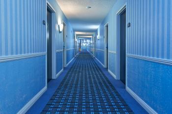 Illuminated Corridor - Cool Blue HDR