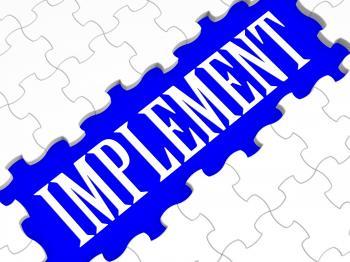Implement Puzzle Shows Performing Plans