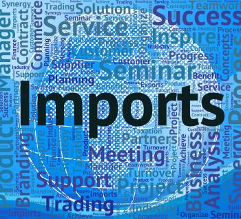 Imports Word Represents Buy Abroad And Business